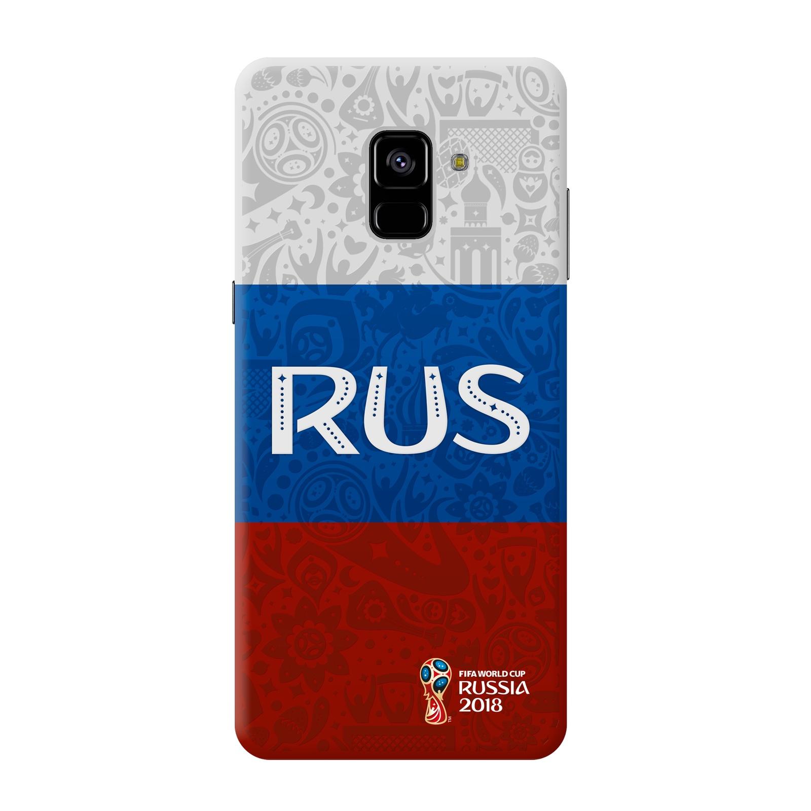 Чехол PC для Samsung Galaxy A8, FIFA Flag Russia, Deppa samsung pc