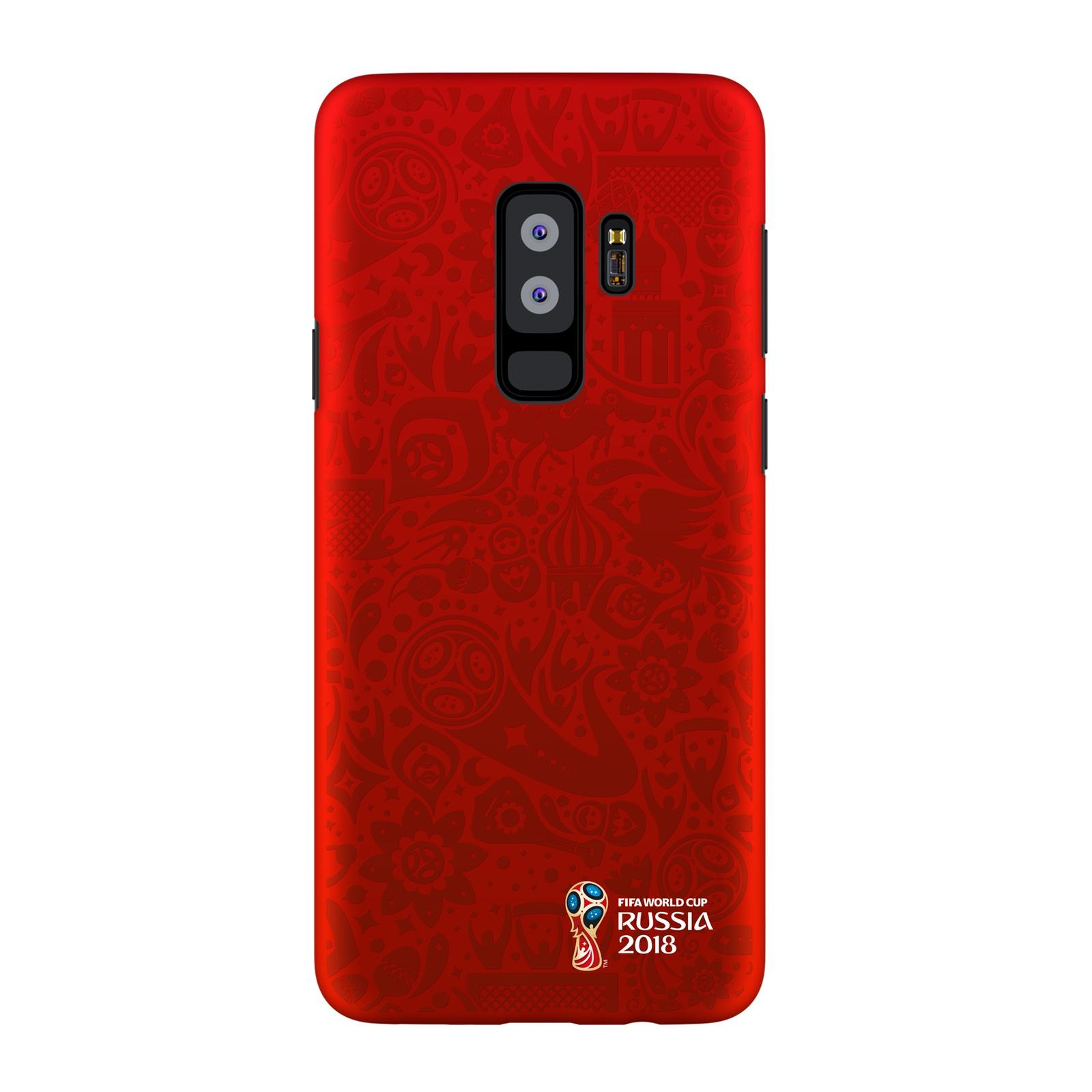 Чехол PC для Samsung Galaxy S9+, FIFA Official Pattern red, Deppa чехол fifa 2018 official pattern red для iphone 5 5s se
