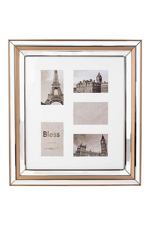 Рамка для 5-ти фото Французский шарм, 55х60см, фото 10х15см, пластмасса, стекло, серебристо-коричневая рамка для 5 ти фото мечта