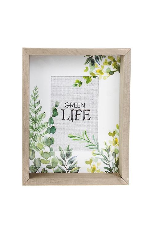 """Рамка для фото """"Нежность листвы"""", 19.5х24.5см, фото 10х15см, МДФ, дерево, стекло"""