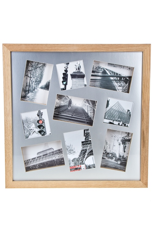Рамка для 9-ти фото Мои путешествия, 50х50см, фото 10х15см, 10х10см, МДФ рамка для 5 ти фото мечта