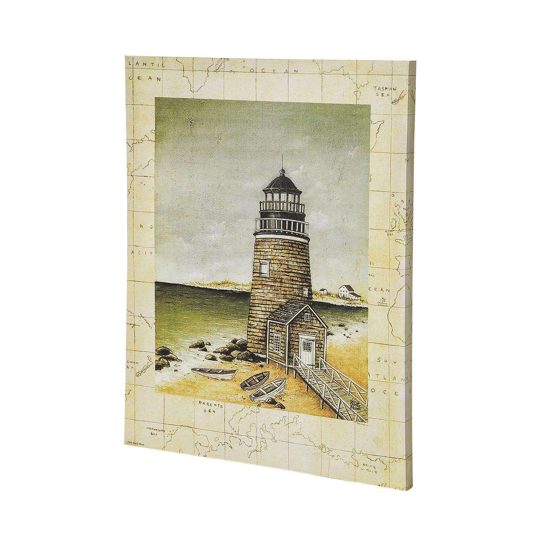 Постер на раме Маяк, морской стиль, 40х50 с, Холст, Дерево все цены