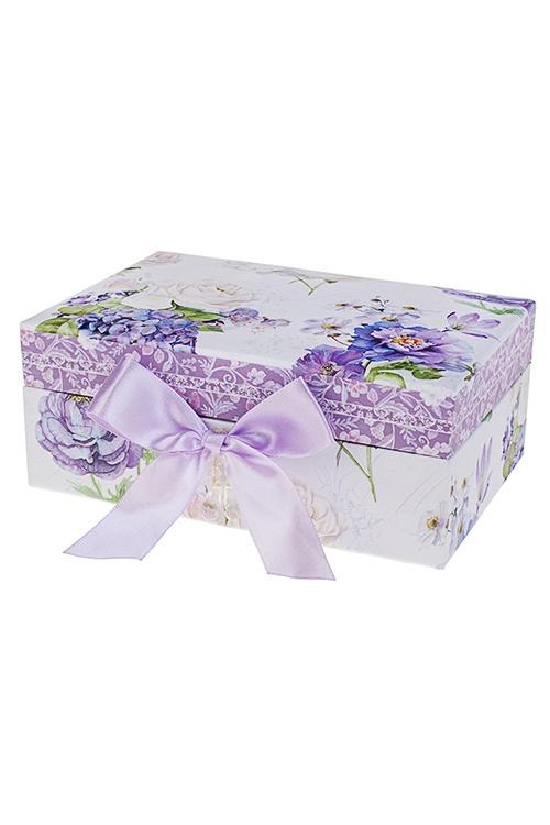 """Шкатулка для ювелирных украшений """"Сиреневый рай"""", 18х12х7.5см, картон"""