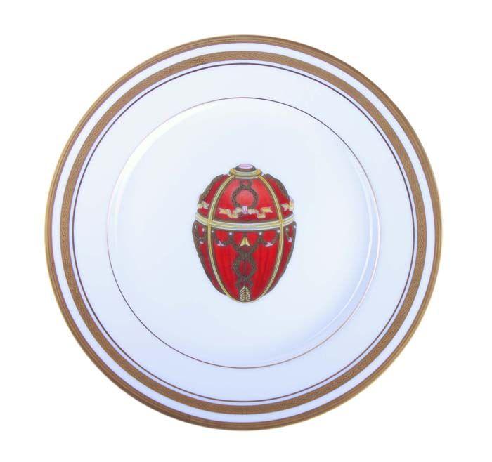 Декоративная тарелка Бутон розы. Фарфор, деколь, позолота, House of Faberge, 90-е гг. ХХ века тарелка ландыши фарфор деколь house of faberge 90 е гг хх века