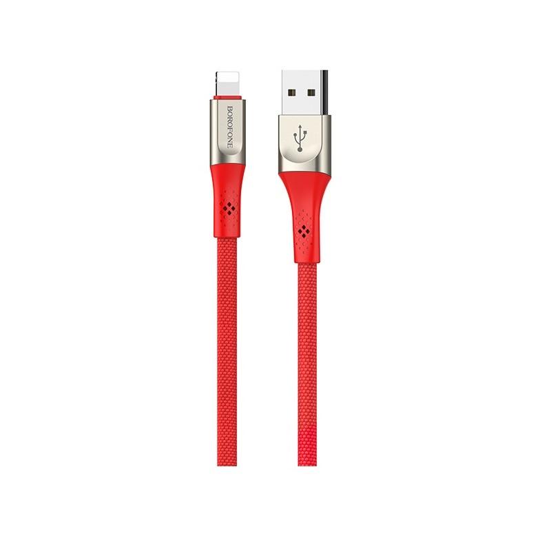 Кабель Borofone BU7 Superior charging data cable for Lightning Red