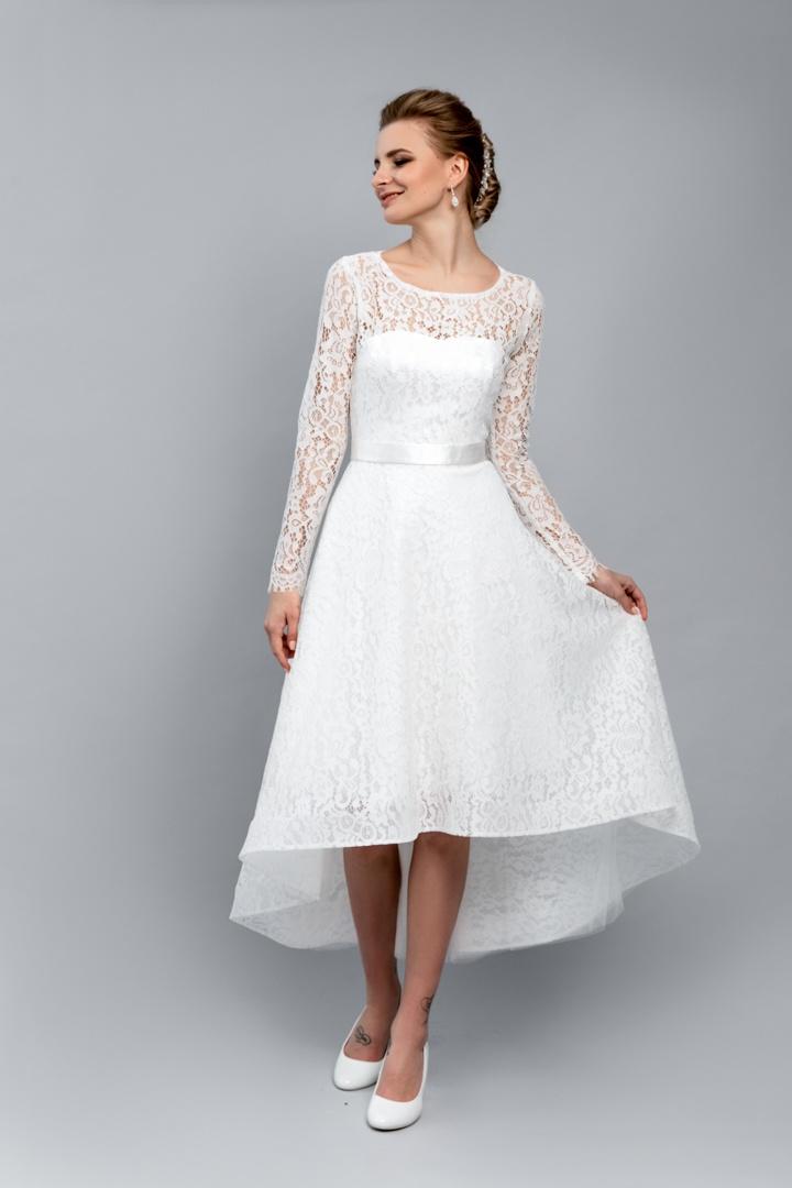 вкладке свадебные платья средней длины фото красивая бизнесвумен