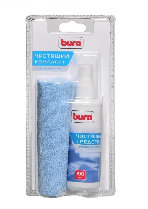 Чистящий комплект для оптики и экранов Buro BU-S/MF чистящий спрей+многоразовая салфетка 250х250 мм чистящий комплект для принтеров zenius и primacy acl001