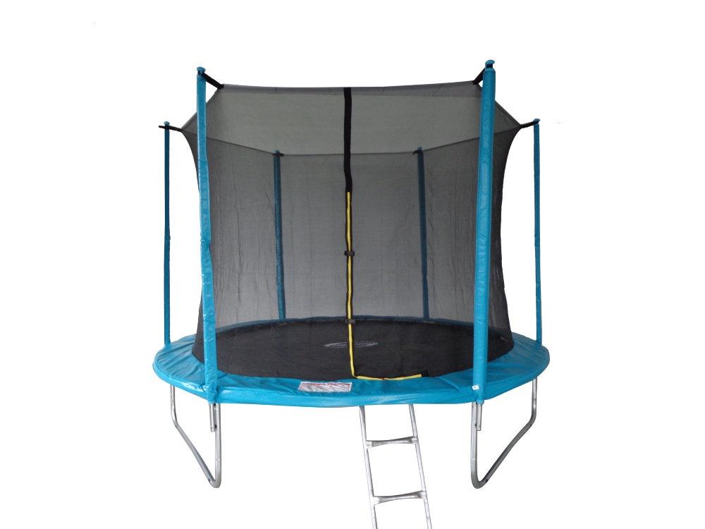 Батут SportElite 3,05м MZ-10FT-B с защитной сеткой внутрь и лестницей, голубой