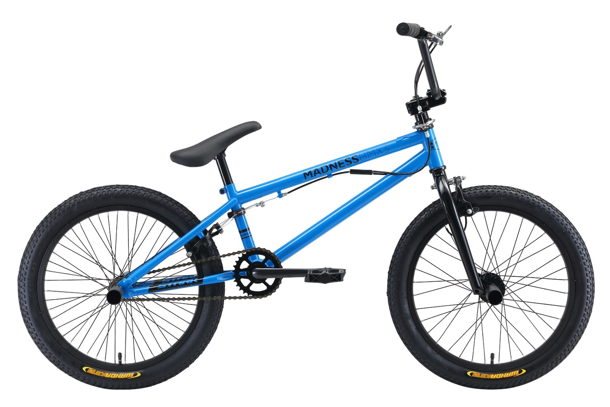 Велосипед STARK Madness BMX 3 2019 one голубой/чёрный цена