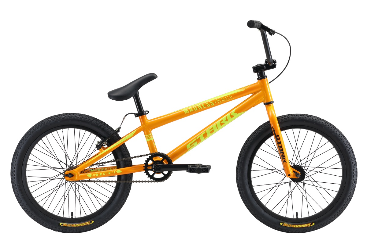 Велосипед STARK Madness BMX Race 2019 one оранжевый/жёлтый цена