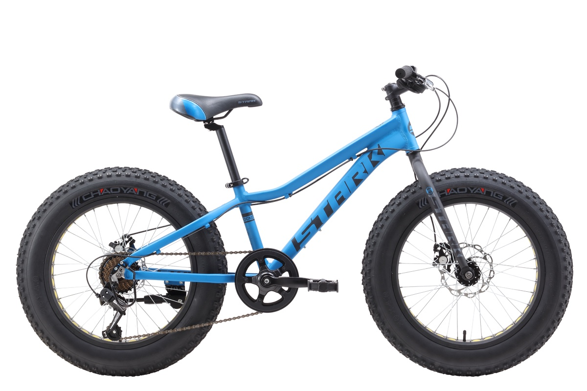 Велосипед STARK Rocket Fat 20.1 D 2019 one голубой/чёрный/серый