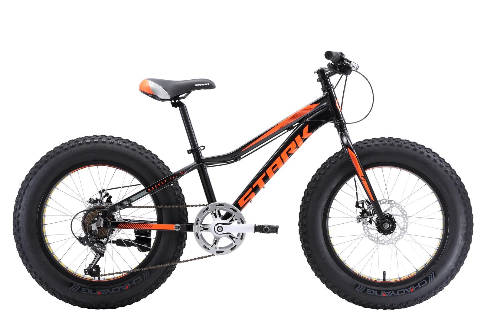 Велосипед STARK Rocket Fat 20.1 D 2018 one чёрный/оранжевый