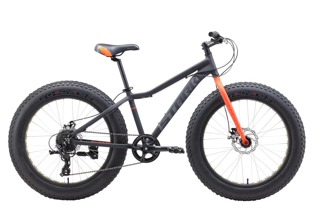Велосипед STARK Rocket Fat 24.2 D 2019 one серый/оранжевый