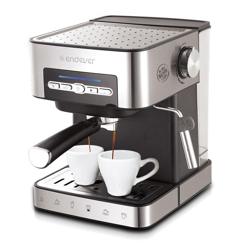 Электрическая кофеварка рожкового типа Endever объем резервуара для воды 1,6 л.