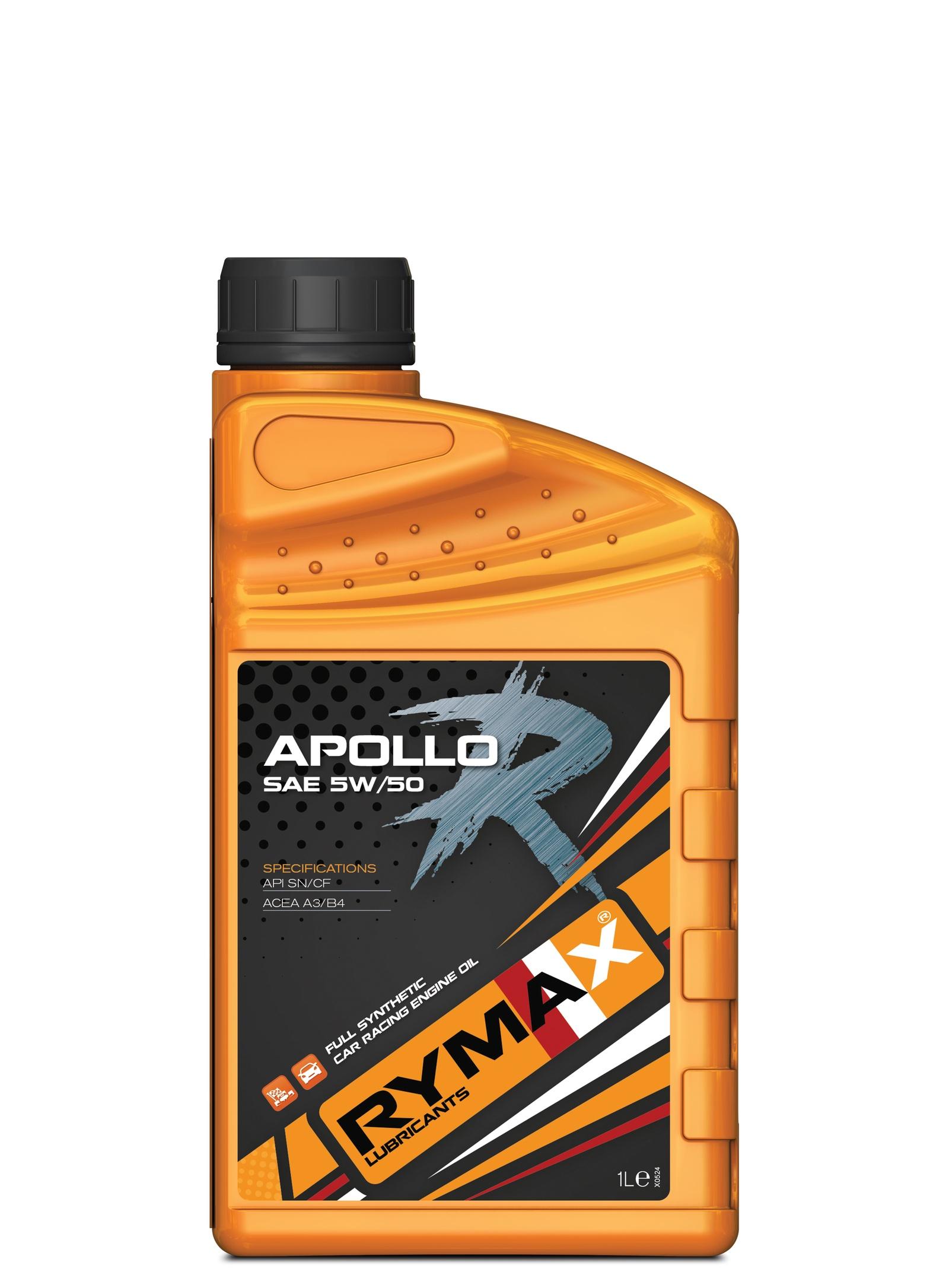 Моторное масло Rymax Apollo R SAE 5W-50, API SN/CF, ACEA A3/B4, спортивное на основе ПАО, 1 л