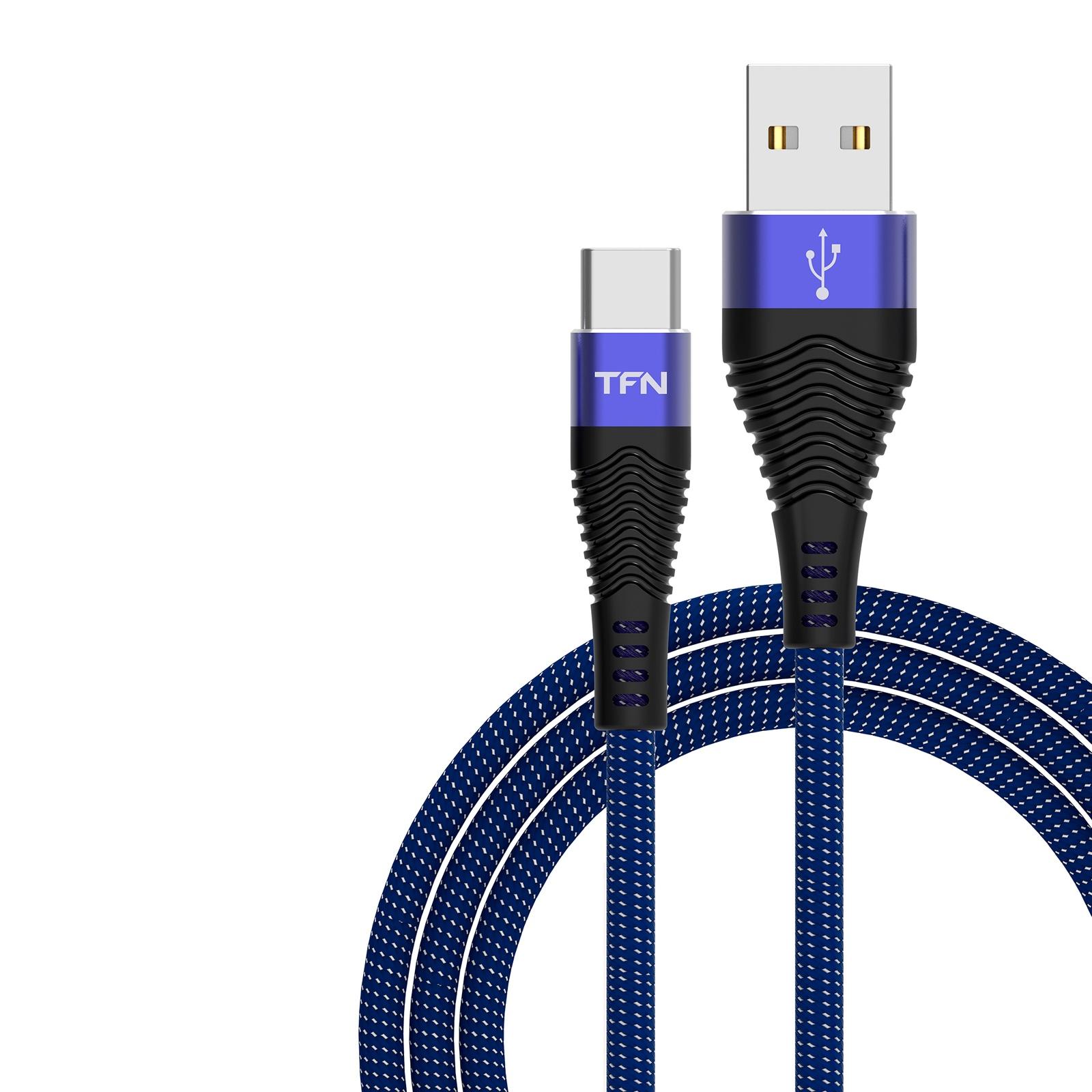 Кабель TFN USB-Type-C 3A 1.0m Blue-Black