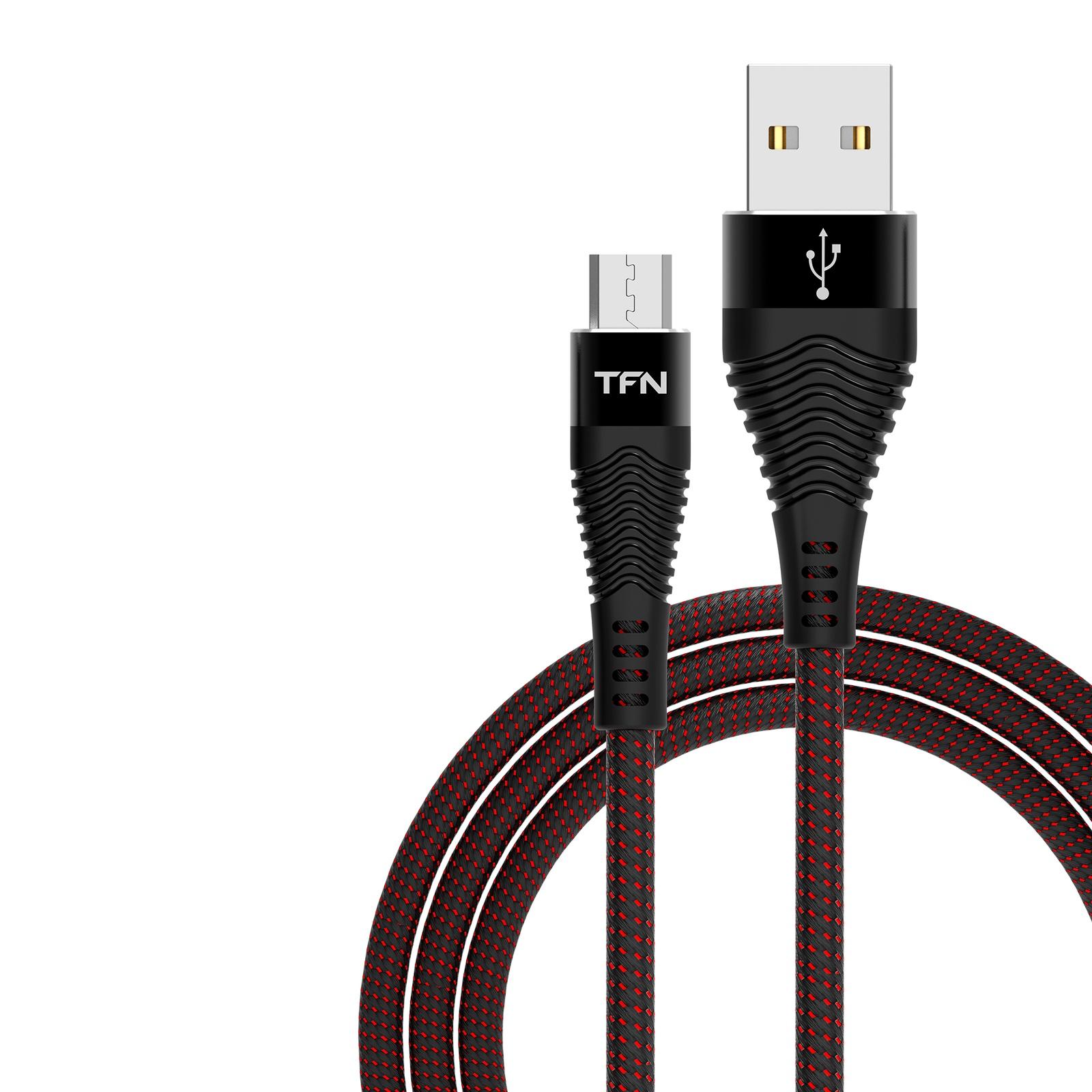 Кабель TFN USB-Micro USB 3A 1.0m Black