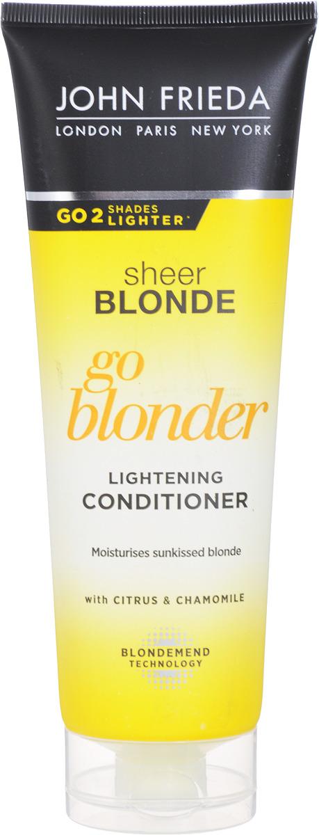 John Frieda Кондиционер осветляющий для натуральных, мелированных и окрашенных светлых волос, 250 мл label m осветляющий кондиционер для блондинок 300 мл