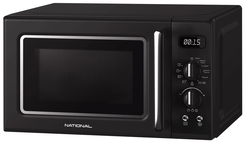 Микроволновая печь NATIONAL 20 л, 700 Вт, с электронно-механическим управлением, 8 авто программ,таймер, ретро-серия
