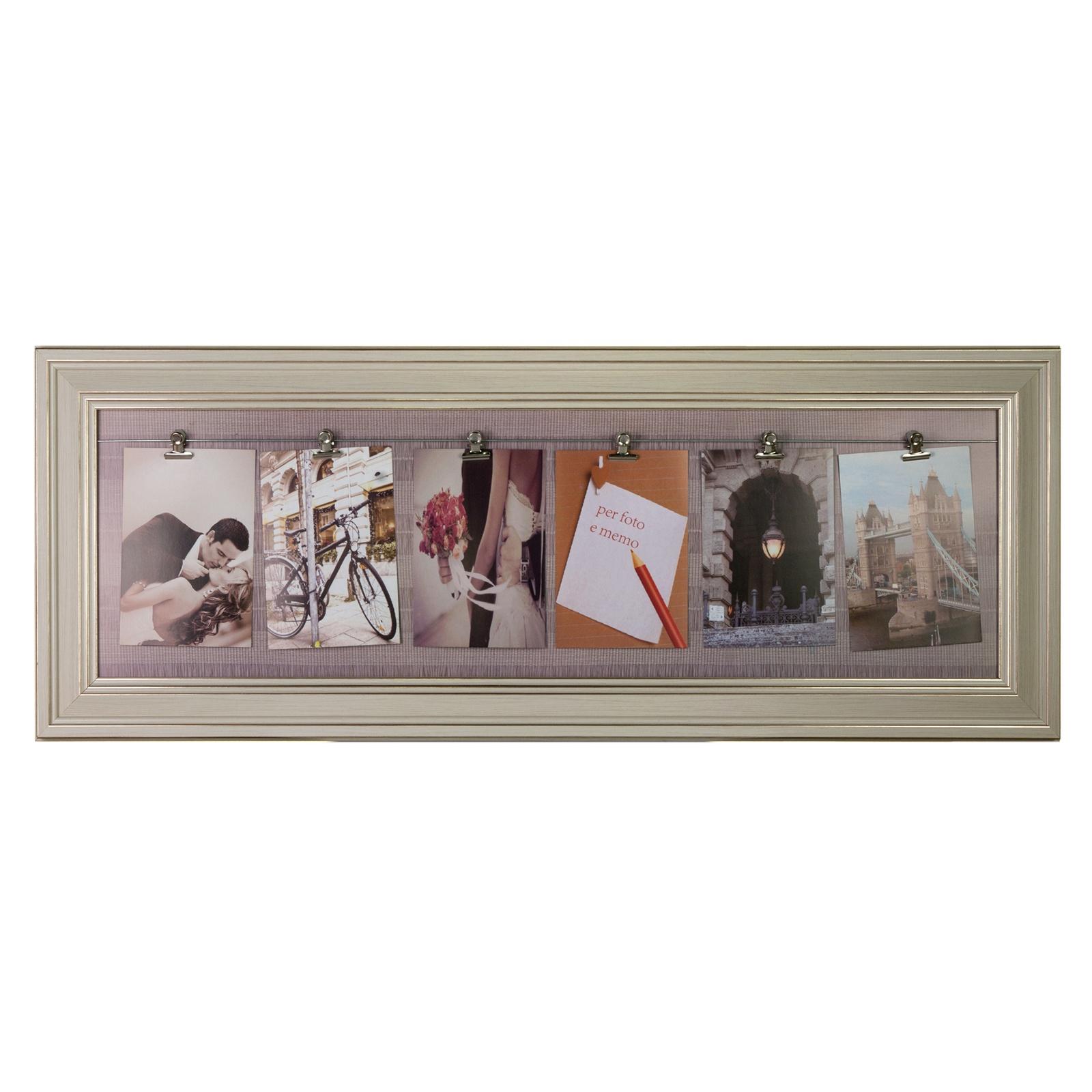 Фоторамка Platinum, на прищепках, цвет: бежевый, на 6 фото 10 х 15 см фоторамка platinum цвет бежевый на 5 фото bin 1123349 cr