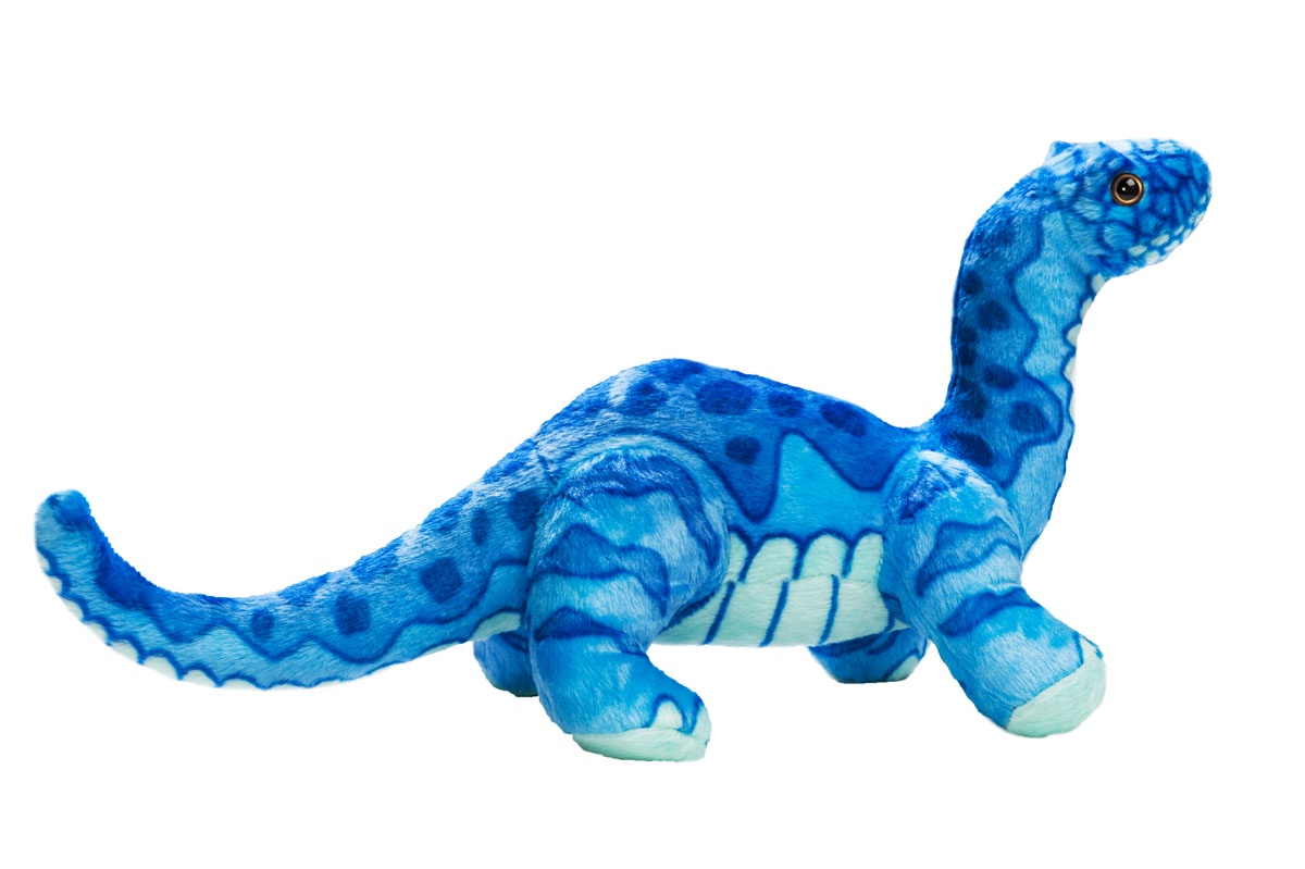 Мягкая игрушка Динозавр Диплодок, 40 см, синий