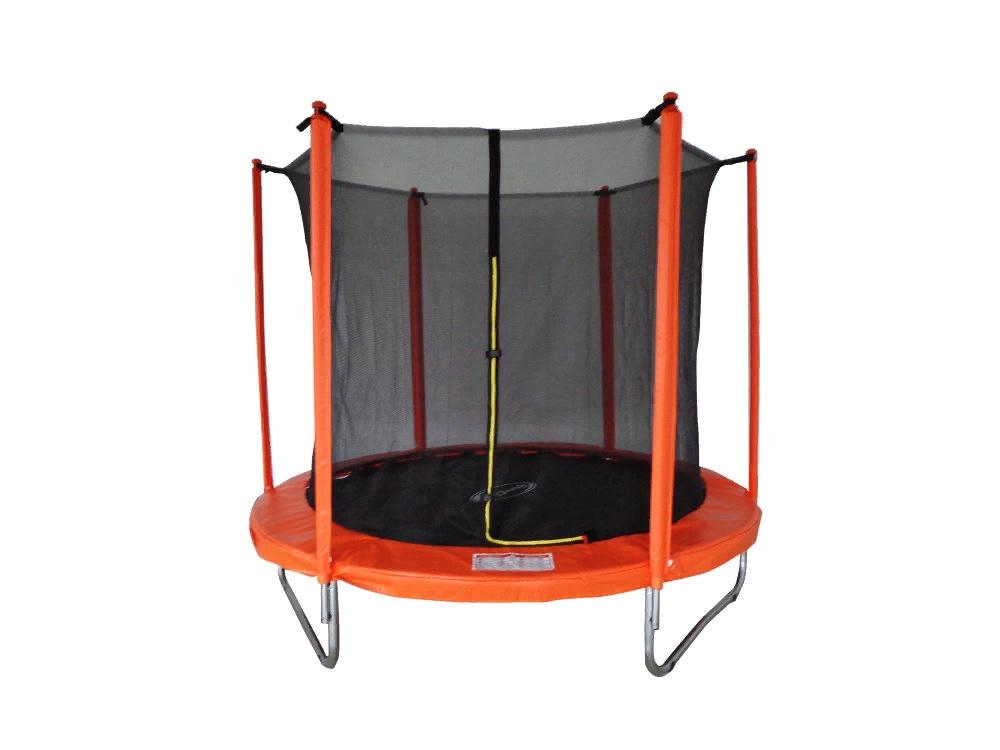 Батут SportElite 2,44м с защитной сеткой внутрь, оранжевый, MZ-8FT-O