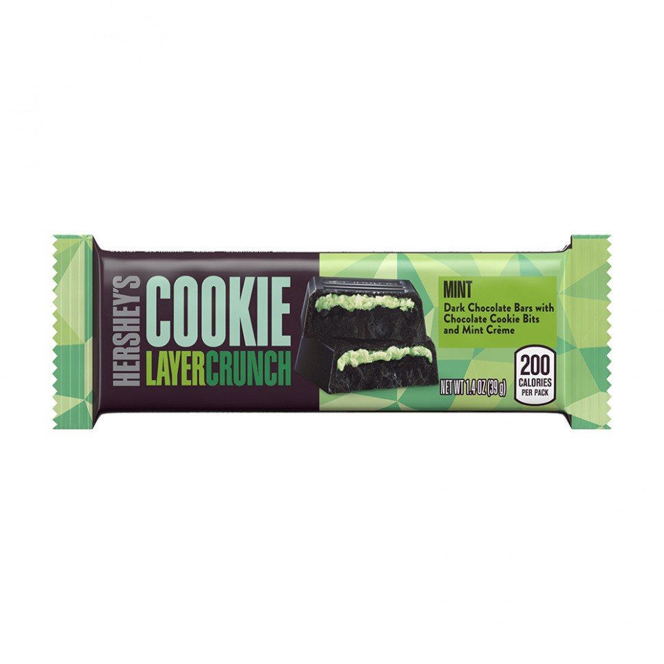 Батончик Hersheys Cookie Layer Crunch Mint, 39г