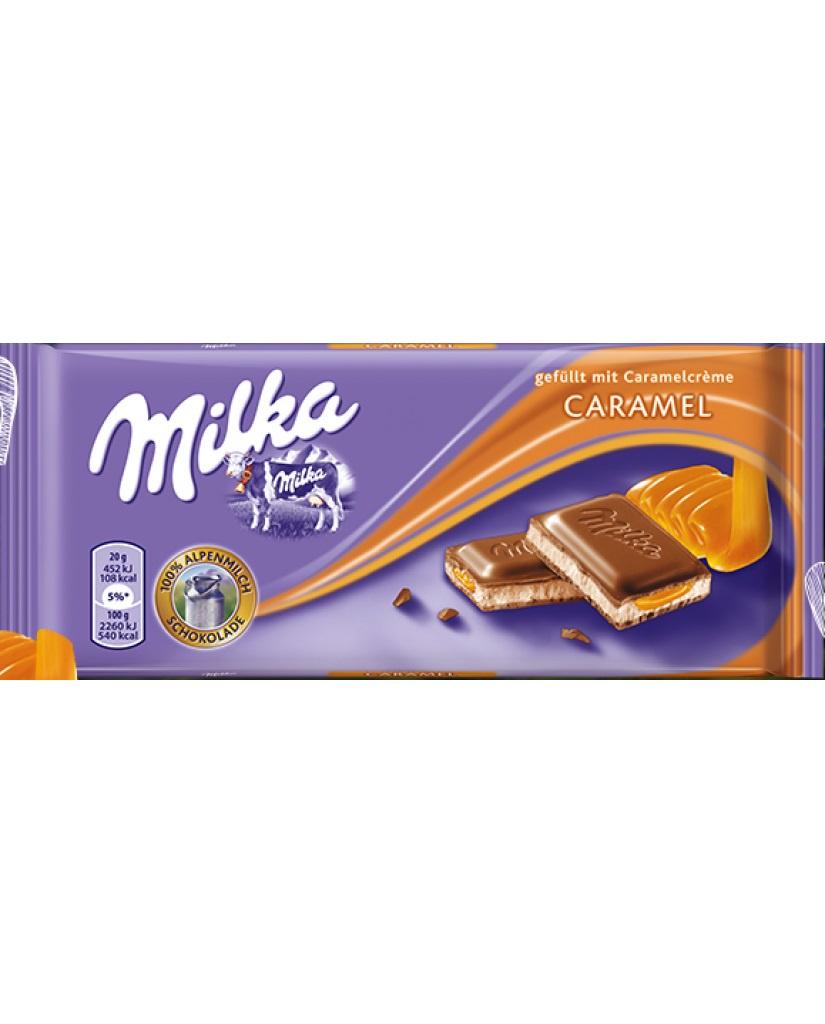Шоколад Milka Caramel cream, 100 гр milka шоколад daim молочный шоколад с кусочками миндальной карамели 100 г
