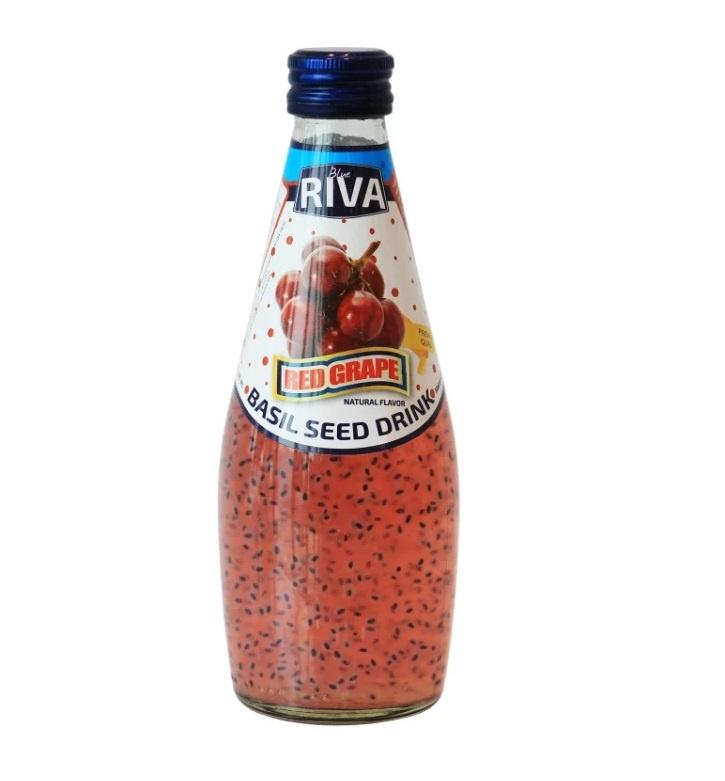 Basil seed drink Red Grape flavor Напиток Семена базилика с ароматом красного винограда 290 мл