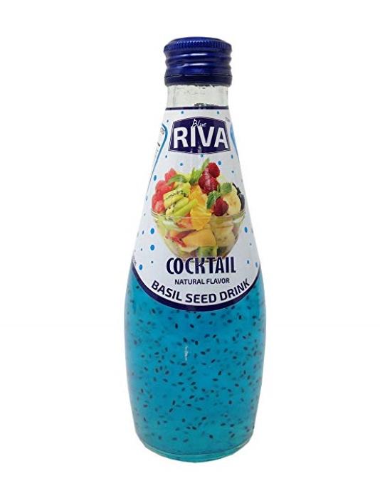 Basil seed drink Cocktail flavor Напиток Семена базилика с ароматом фруктового коктейля 290 мл
