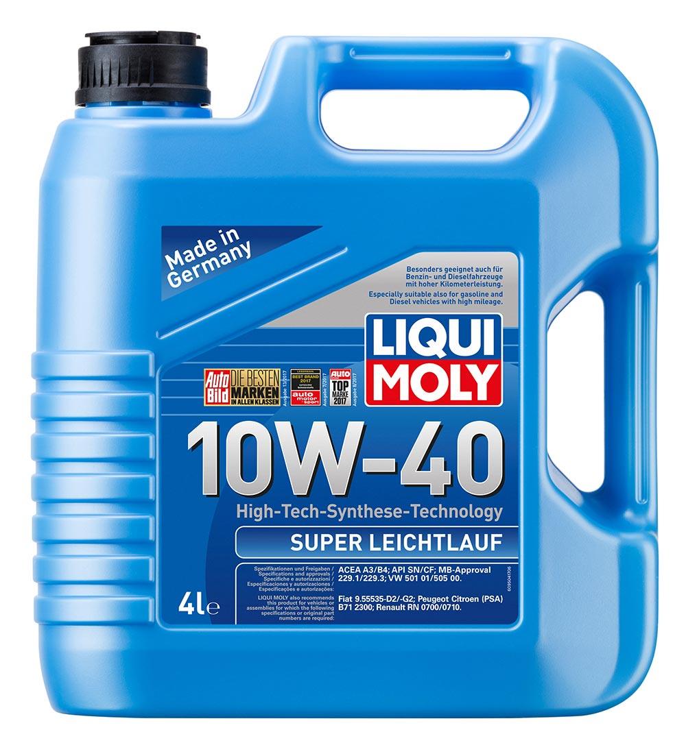 Масло моторное полусинт. Super Leichtlauf 10W-40 (4л) пластик