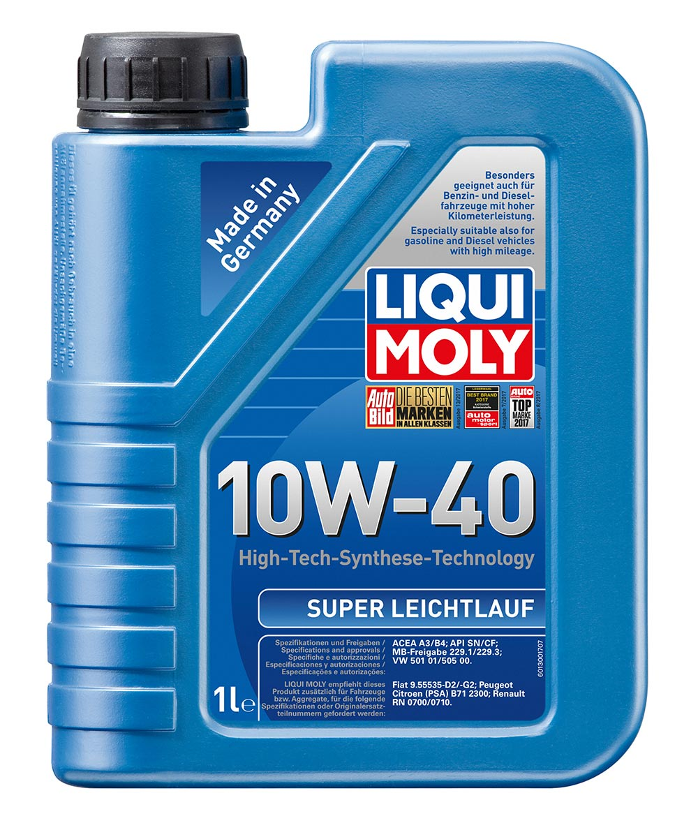 Масло моторное полусинт. Super Leichtlauf 10W-40 (1л) пластик