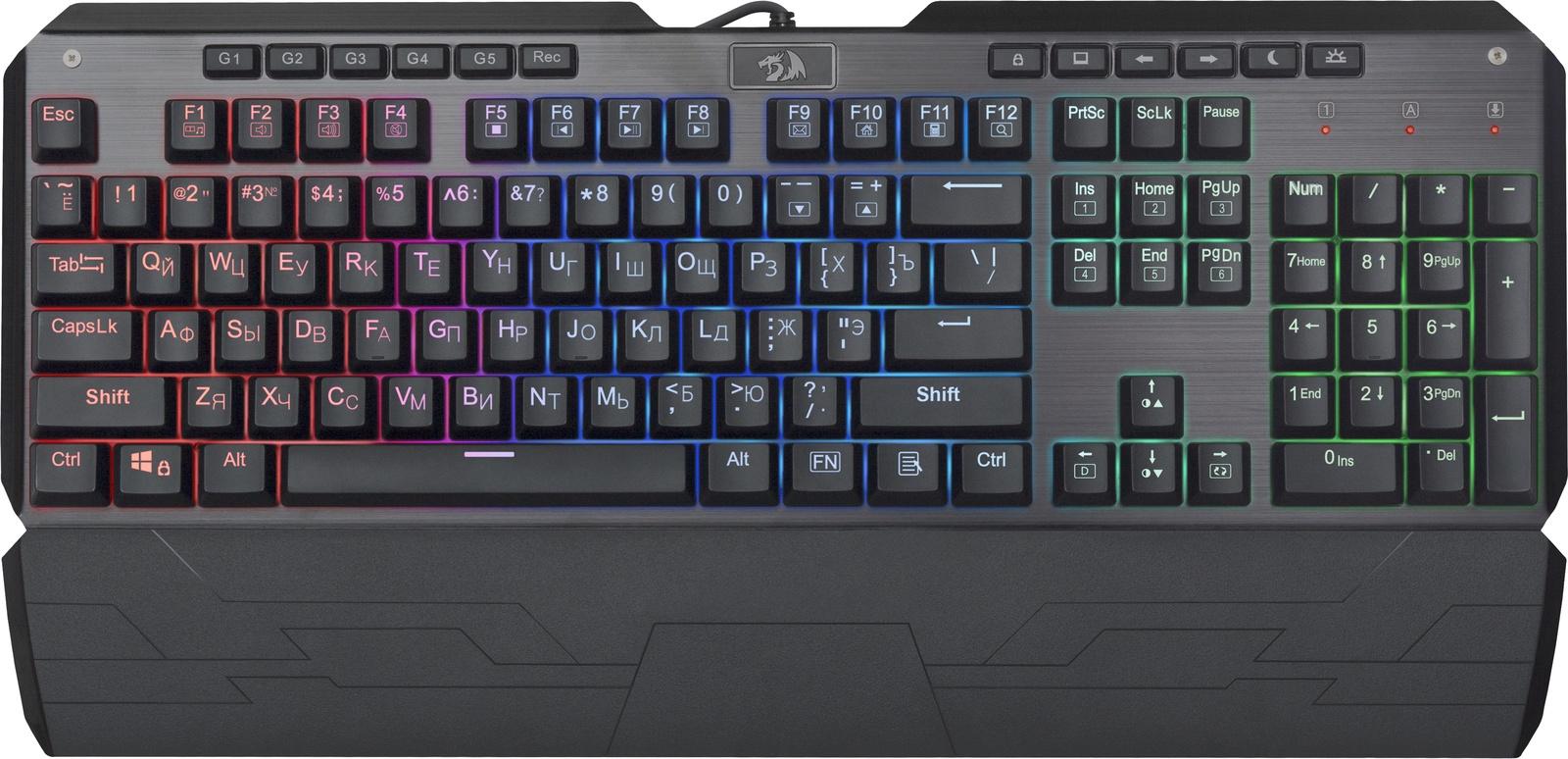 лучшая цена Механическая клавиатура Redragon Indrah RU,RGBподсветка,FullAnti-Ghost