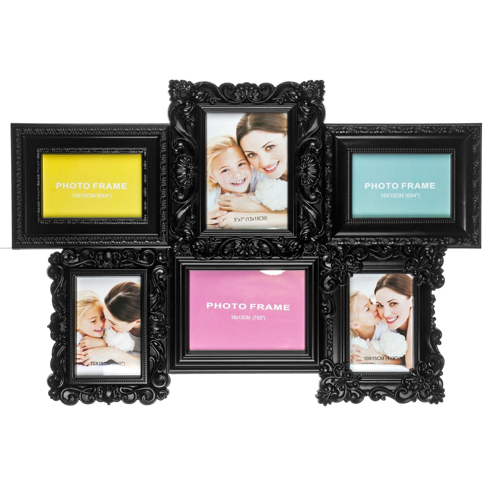 Фоторамка Platinum, цвет: черный, на 6 фото. BIN-1123783-Black-Чёрный полотенце proffi home классик цвет шоколадный 50 x 100 см