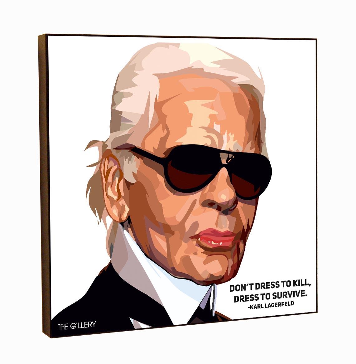Картина постер Карл Лагерфельд в стиле поп-арт 25 х 25 см обувь карл лагерфельд купить