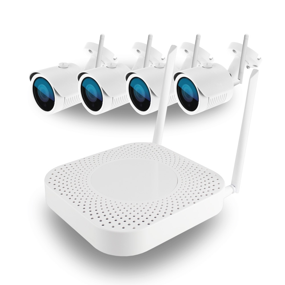 Комплект WiFi HK-440W,4ch, 720P, HDMI, 4улич кам 1.0Mp, IR30м регистратор видеонаблюдения ginzzu hd 412 4 канальный 1080n гибридный 3 в 1 видеорегистратор 4ch dvr nvr 1080n hdmi vga bnc 2usb lan