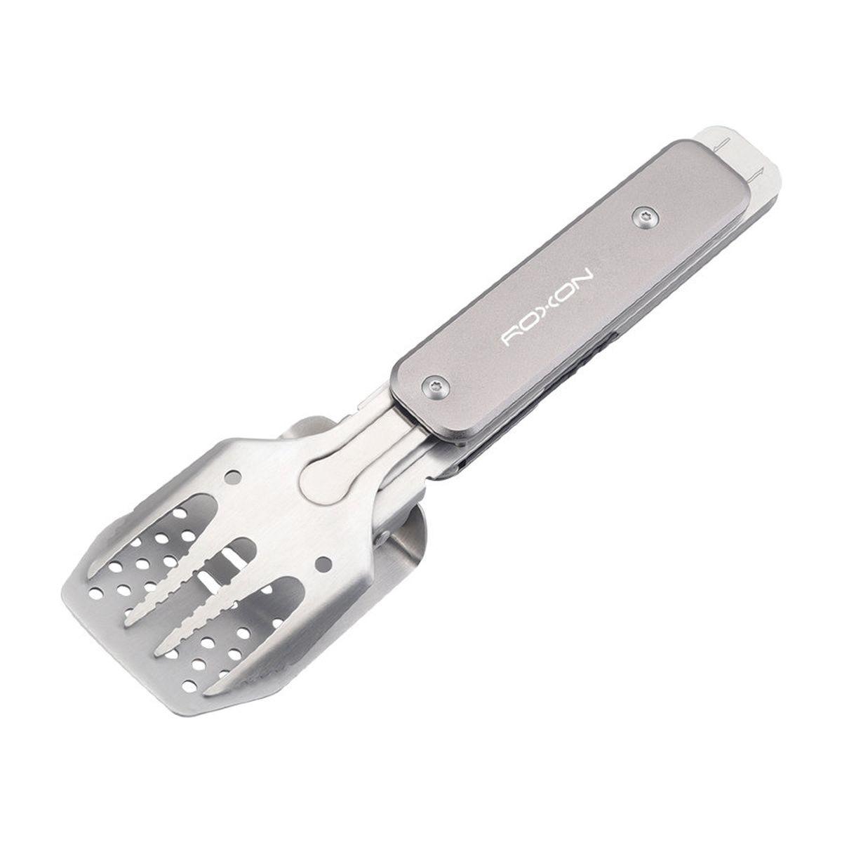 Набор туристических столовых приборов Roxon Multi BBQ Tool MBT Mini, S602G, серый, 4 инструмента