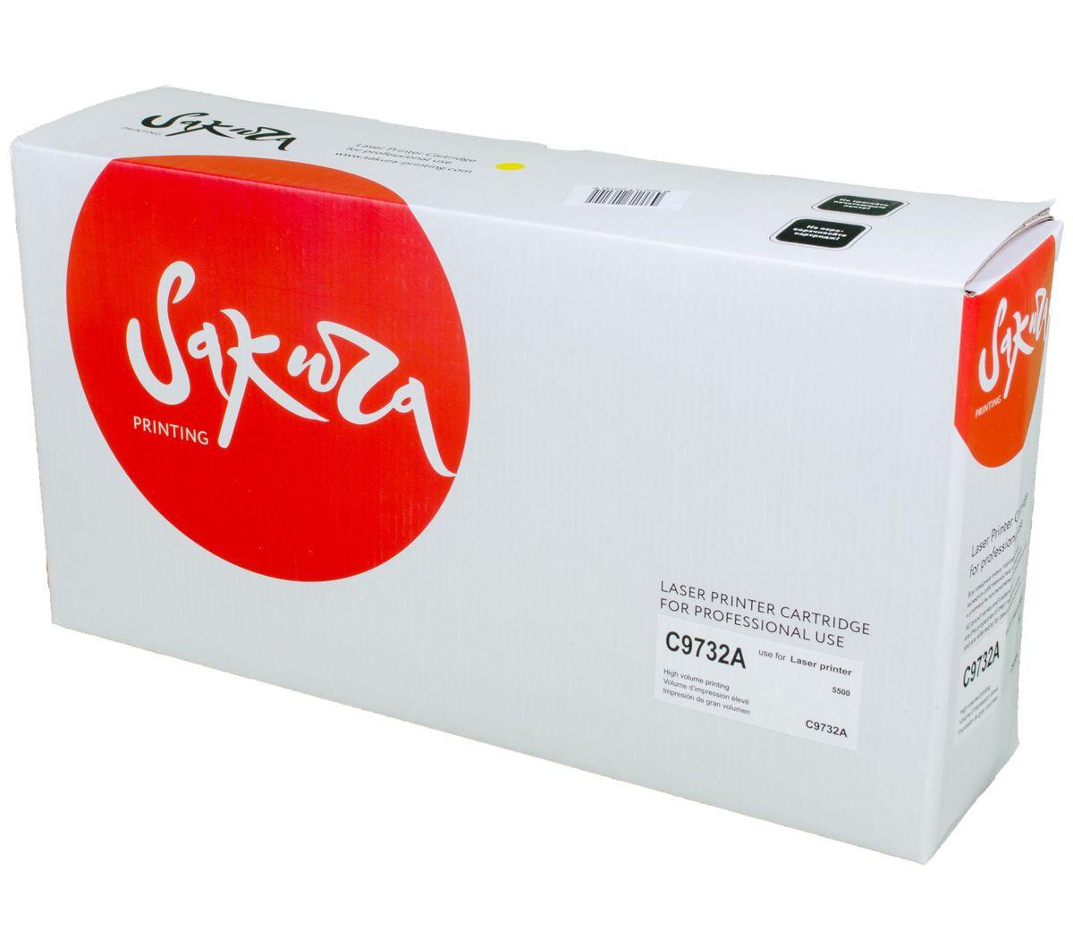 где купить Картридж SAKURA C9732A для принтера HP Laser Jet 5500/5550, желтый, 12000 к. дешево