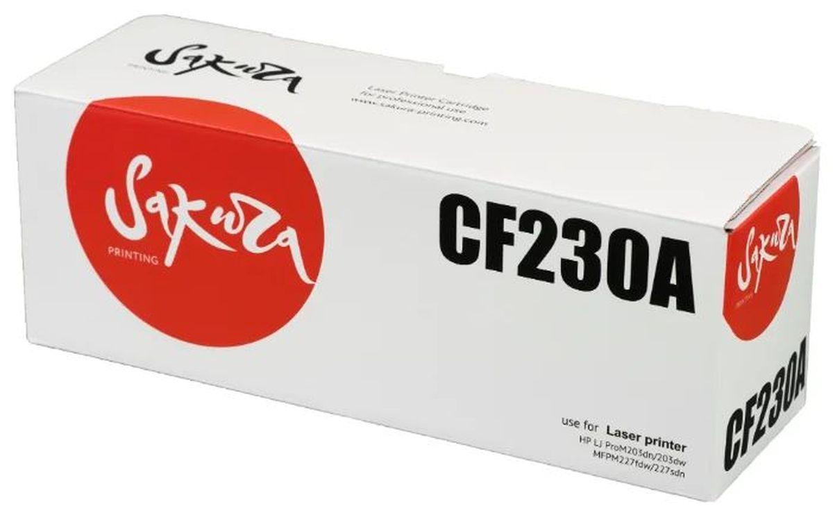 Картридж SAKURA CF230A/051 для HP и Canon, черный, 1 700 к.