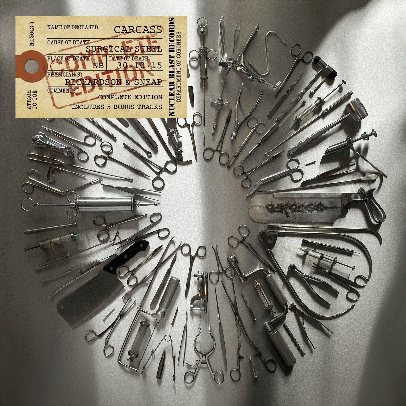 Carcass Carcass. Surgical Steel (Complete Edition)