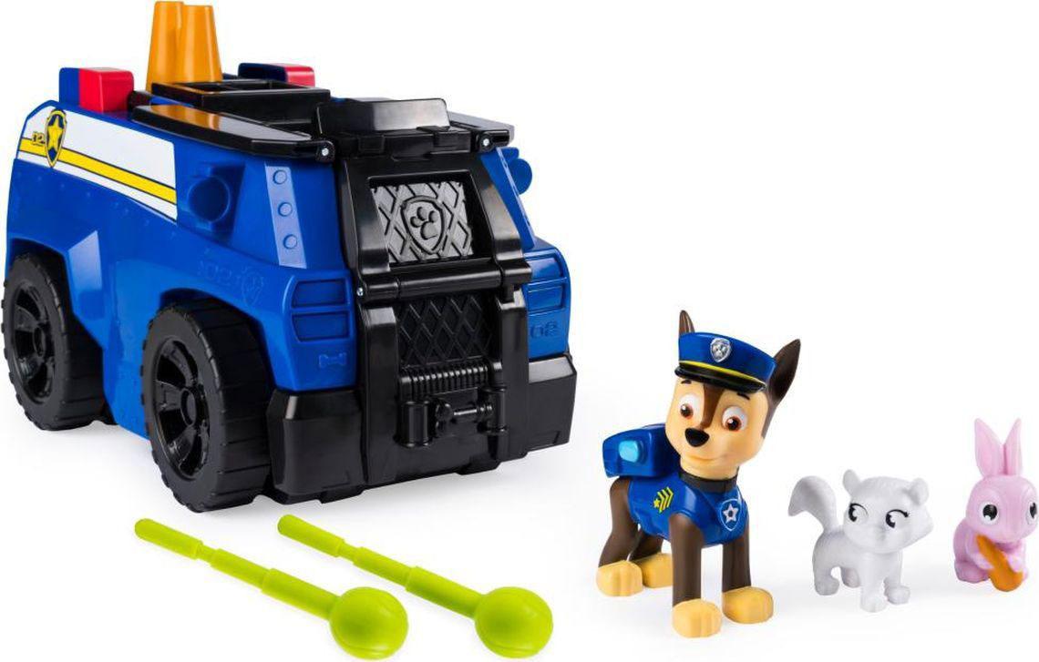 Фигурка Paw Patrol Vehicles Спасательная станция Трансформер Чейз, 6046797_20107844 мягкая игрушка paw patrol plush чейз суперспасатели пожарные 6044393 20101969
