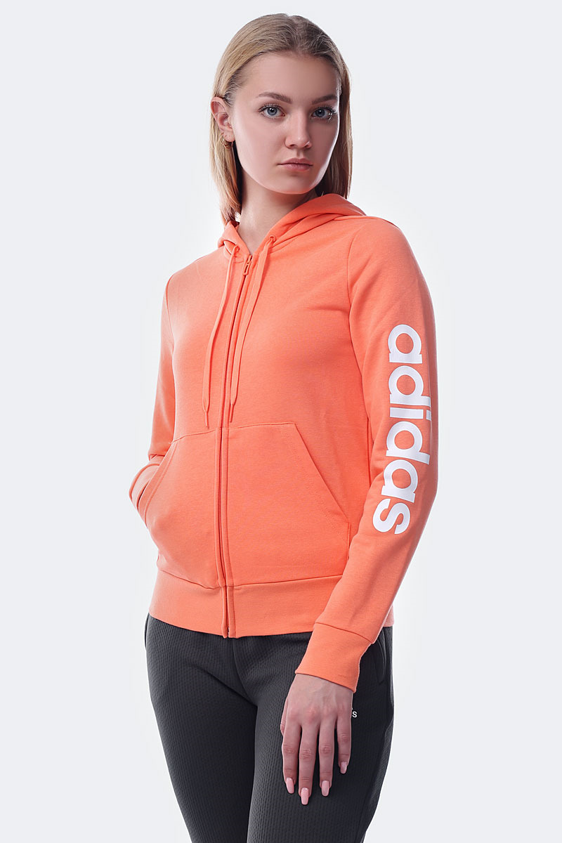Худи adidas W E Lin Fz Hd худи женское adidas ess lin fz hd цвет фуксия cz5718 размер l 48 50