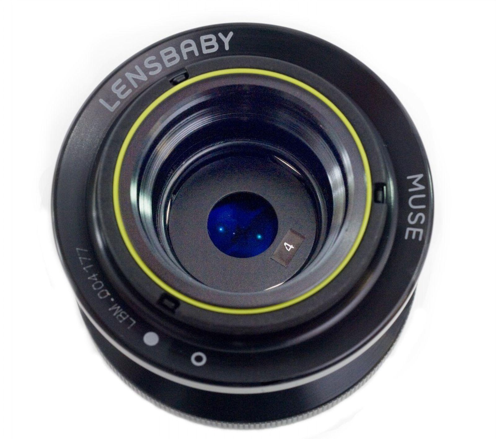 Объектив Lensbaby Composer Double Glass 50mm f/2.0 для Nikon, черный, серебристый