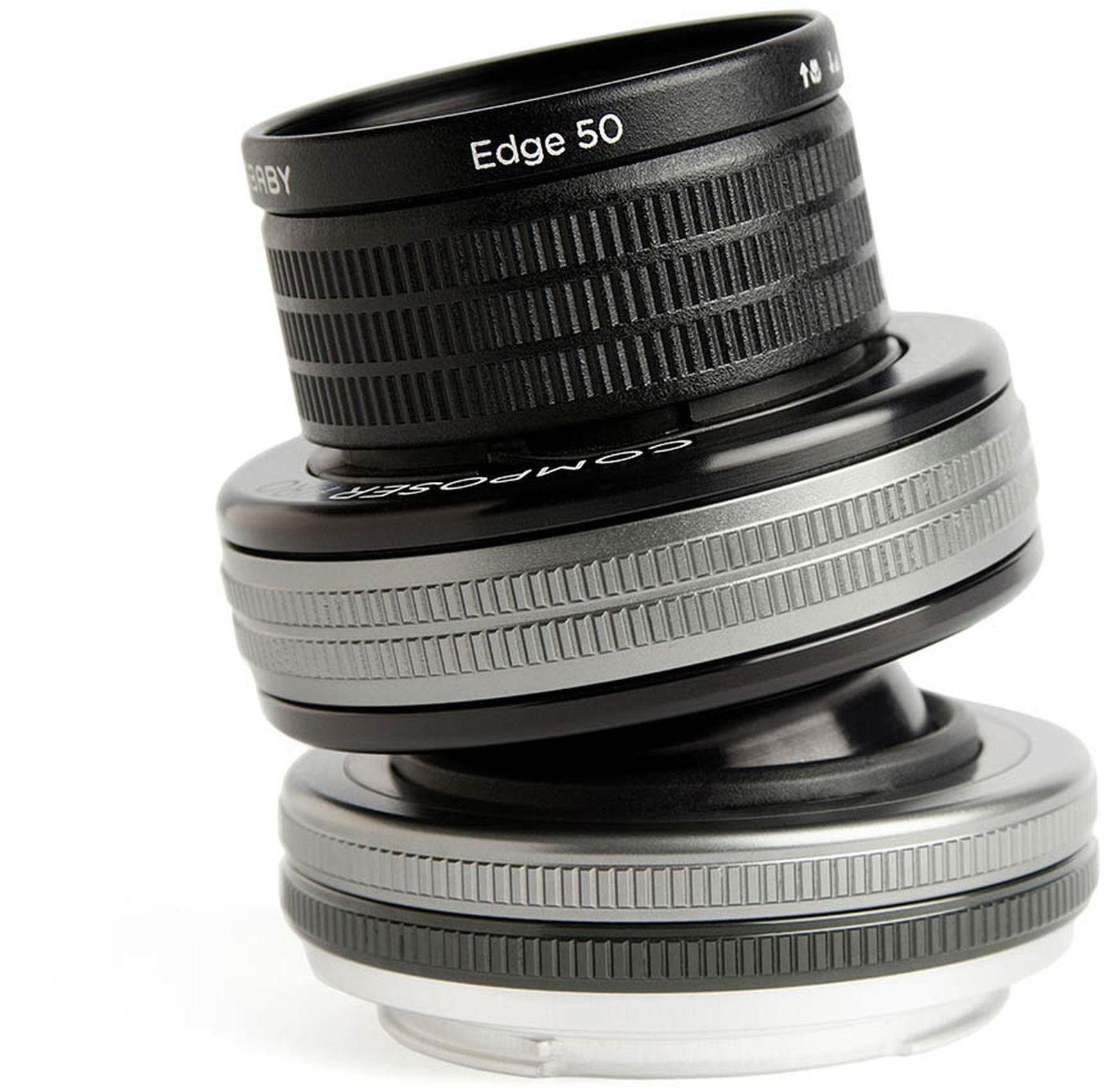 Объектив Lensbaby Composer Pro Double Glass 50mm f/4.0 для Micro 4/3, черный