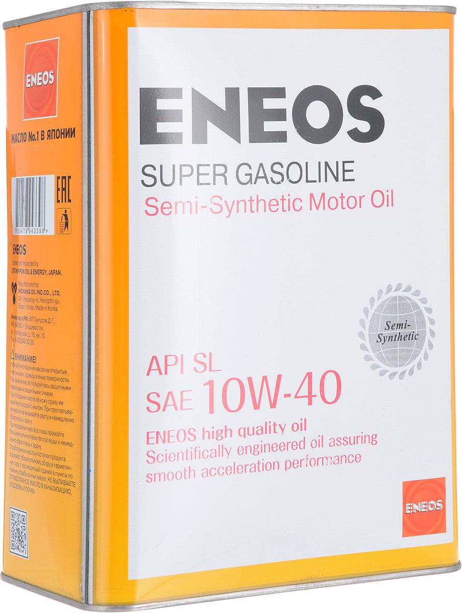 """Масло моторное ENEOS """"Super Gasoline"""", полусинтетическое, 10W-40, 4 л Уцененный товар (№1)"""