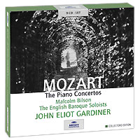 Джон Элиот Гардинер,Малкольм Билсон,The English Baroque Soloists John Eliot Gardiner. Mozart. The Piano Concertos. Collectors Edition (9 CD) f delioux concerto for violin cello and orchestra rt vii 5