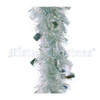 Новогодняя мишура, цвет: серебристый, 270 см. M24S