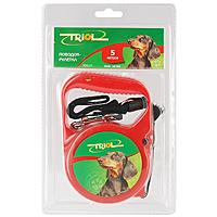 """Поводок-рулетка """"Triol"""" для собак до 10 кг, 5 м, в ассортименте. FD9117"""