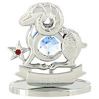 "Сувенир ""Знаки зодиака: Овен"", цвет: серебристый, 7 см, Crystocraft"