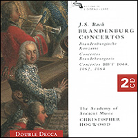 Кристофер Хогвуд,The Academy Of Ancient Music Christopher Hogwood. Bach. Brandenburg Concertos (2 CD)